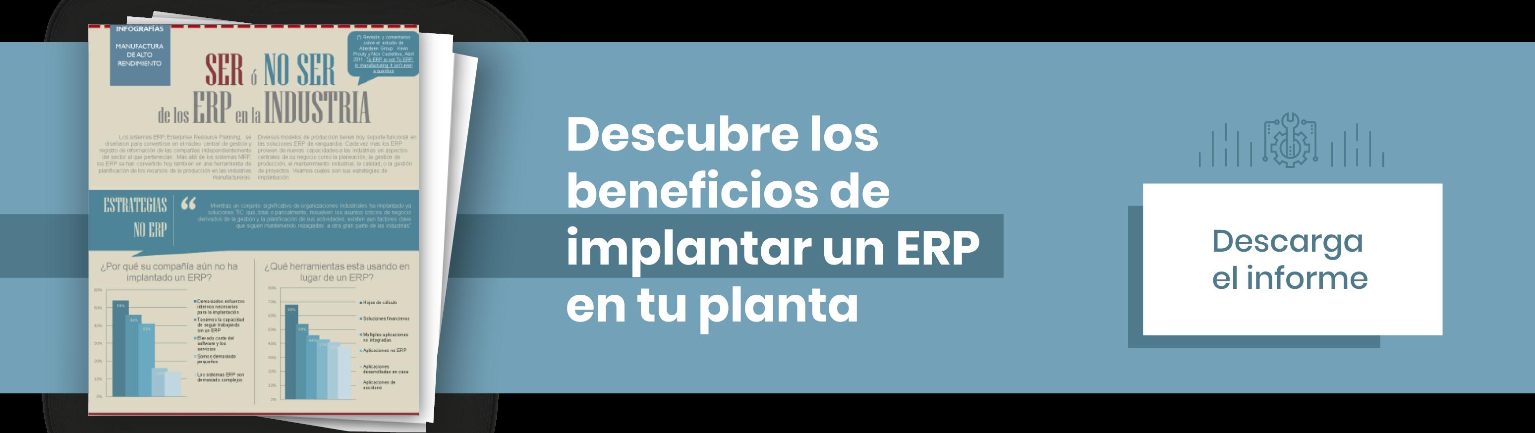Descubre los beneficios de implantar un ERP en tu planta