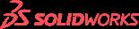 Logotipo rojo solidworks