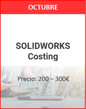 solidworks costing octubre 1