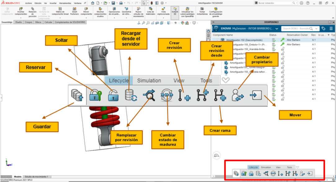 Lifecycle conector Solidworks