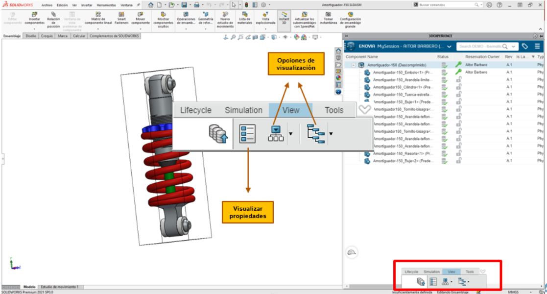 View conector Solidworks