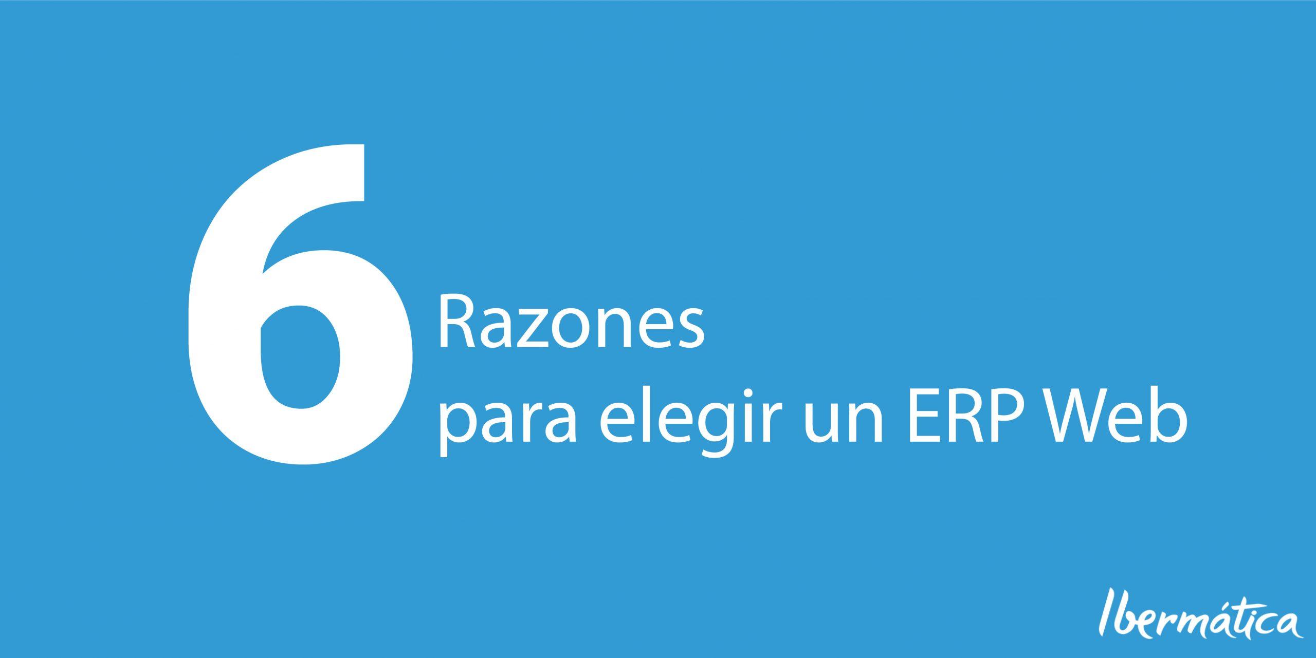 6 razones para tener un WEB ERP